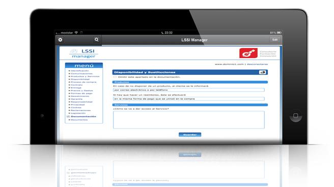 Introduce datos de consultoria lssi en el cliente