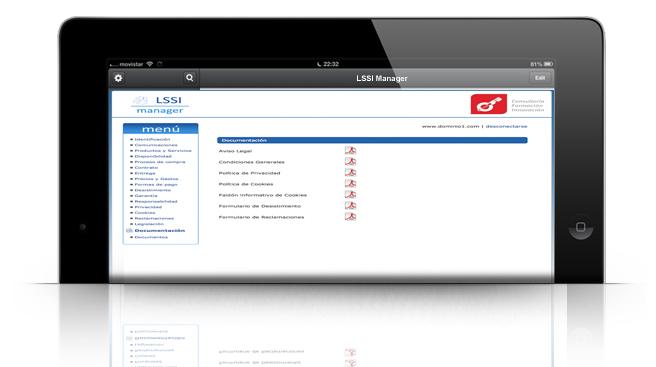 Genera documentacion LSSI automaticamente con LSSI MANAGER